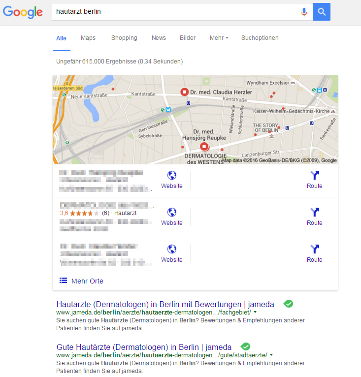 Local SEO Ärzte