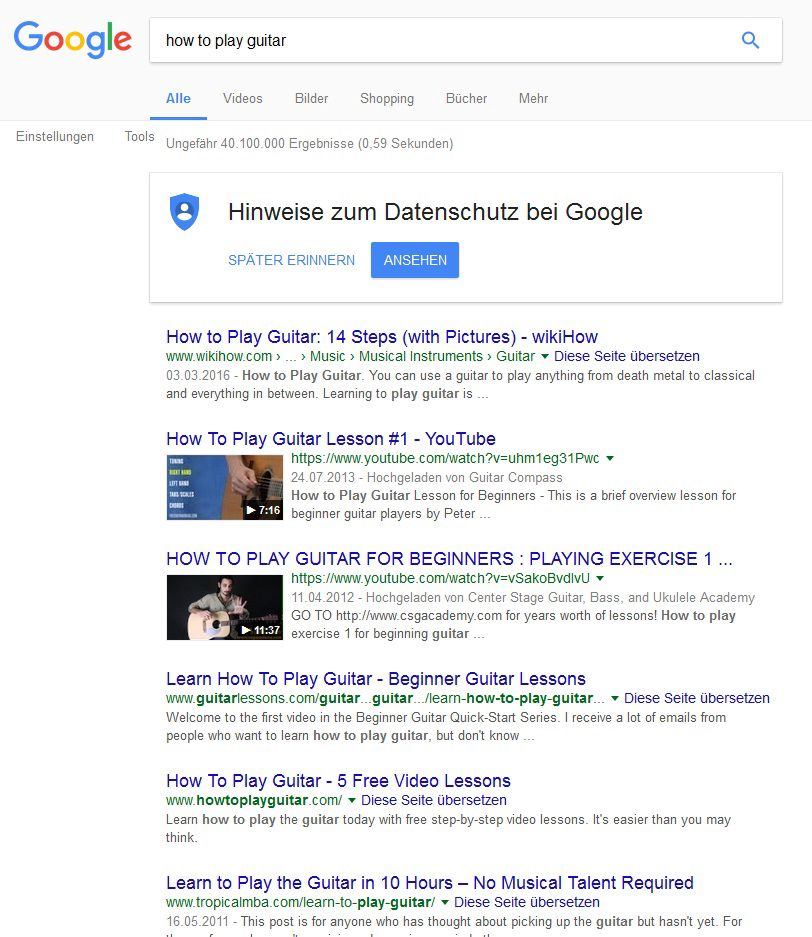 YouTube SEO - Videos in SERP